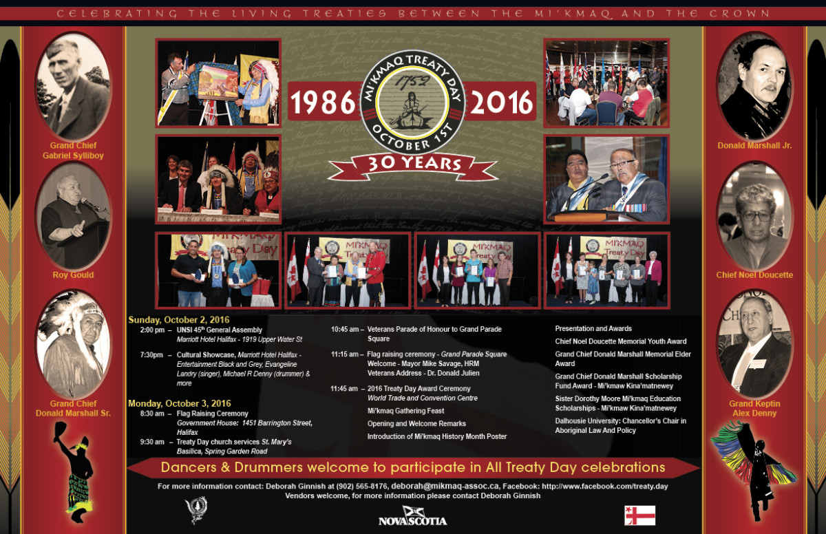 2016 Treaty Day Poster